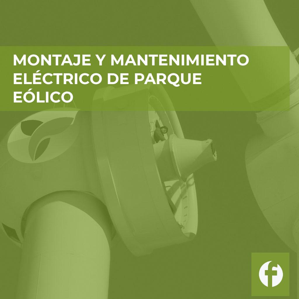 curso MONTAJE Y MANTENIMIENTO ELECTRICO DE PARQUE EOLICO