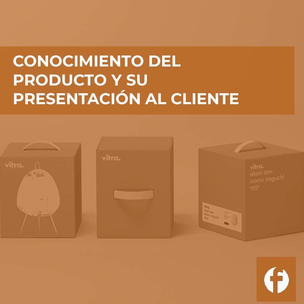 curso CONOCIMIENTO DEL PRODUCTO Y SU PRESENTACION AL CLIENTE