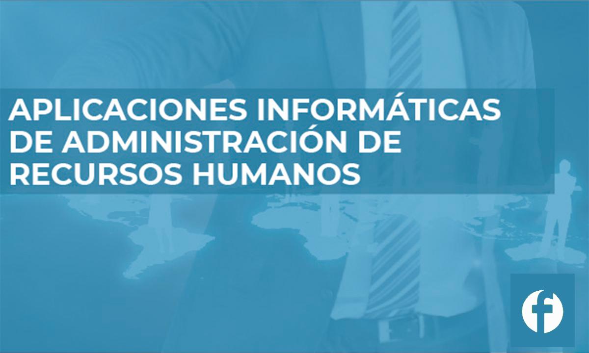 CURSO APLICACIONES INFORMÁTICAS DE ADMINISTRACIÓN DE RECURSOS HUMANOS