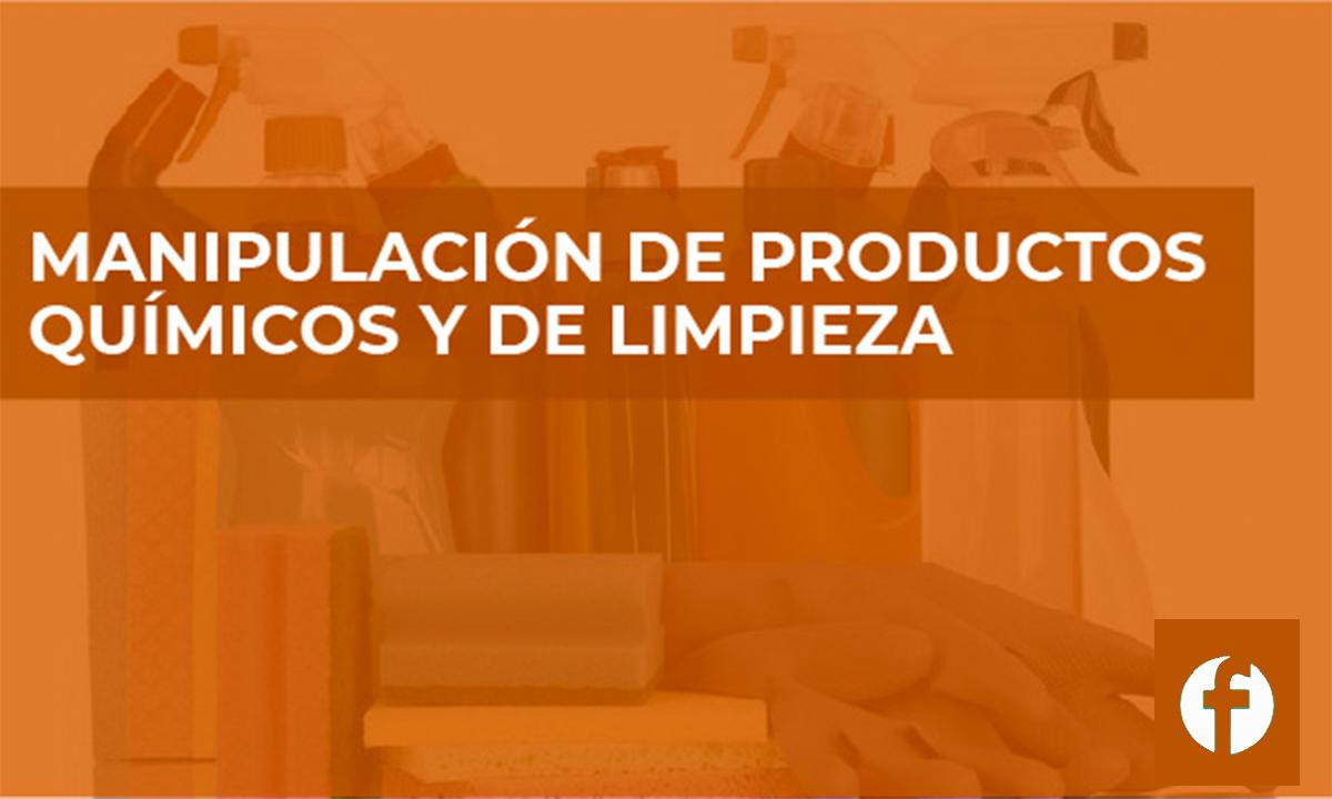 CURSO MANIPULACIÓN DE PRODUCTOS QUÍMICOS Y DE LIMPIEZA
