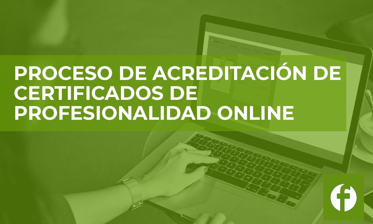 curso online PROCESO DE ACREDITACIÓN DE CERTIFICADOS DE PROFESIONALIDAD ONLINE