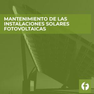curso MANTENIMIENTO DE LAS INSTALACIONES SOLARES FOTOVOLTAICAS