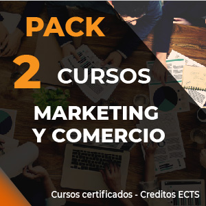 Oferta Pack 2 cursos online Marketing y comercio