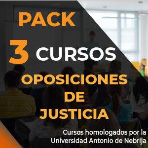 Packs 3 cursos OPOSICIONES DE JUSTICIA