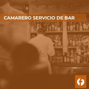 Curso online camarero bar