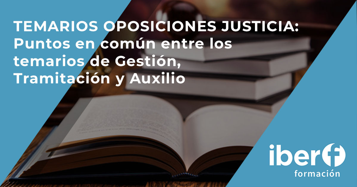 Temarios oposiciones Justicia
