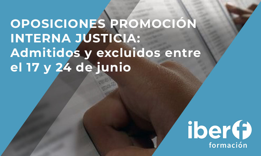 Admitidos promoción interna justicia