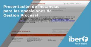 Presentación de instancias Gestión Procesal