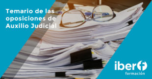 Temario oposiciones Auxilio judicial