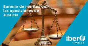 Cuadro de méritos de las oposiciones de justicia