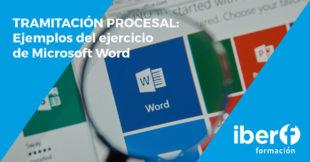Tramitación procesal: tercer ejercicio word